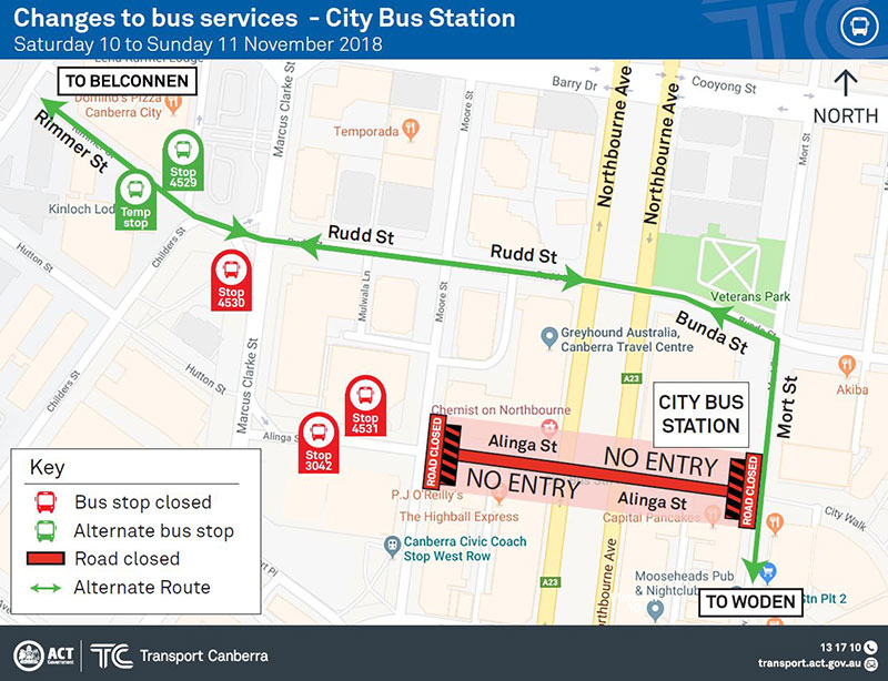 City Bus Station changes