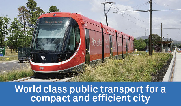 World class public transport network for a compact, efficient city