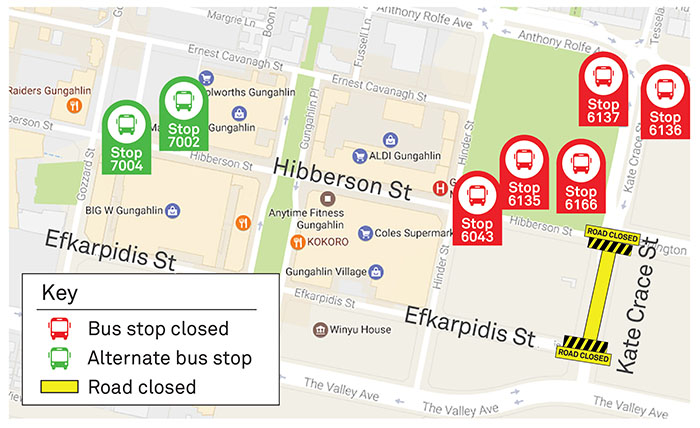 Stop closures map