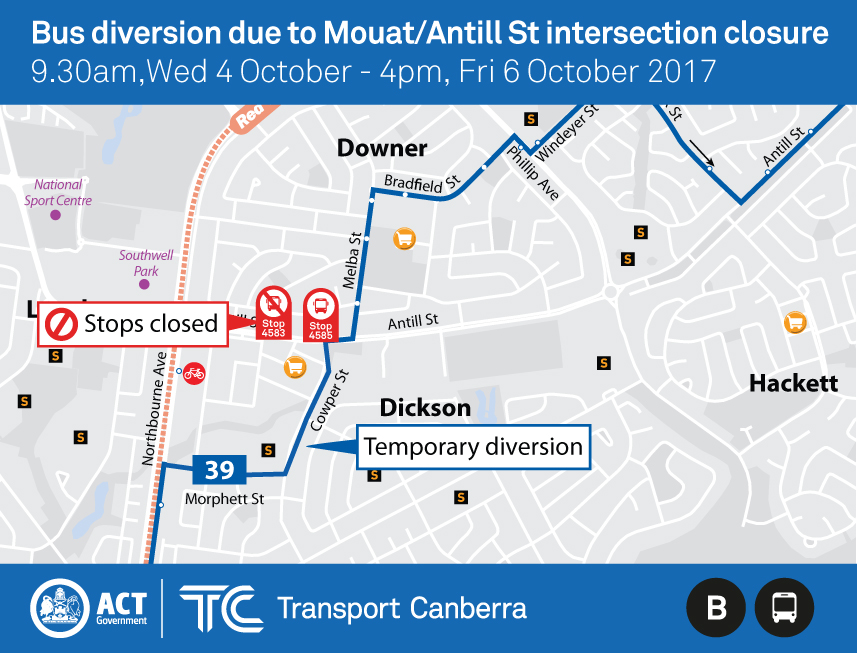 Map of diversion