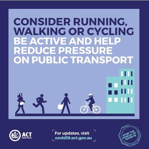 Consider running, walking or cycling. Be active and reduce pressure on public transport