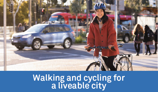 Walking and cycling for a liveable city